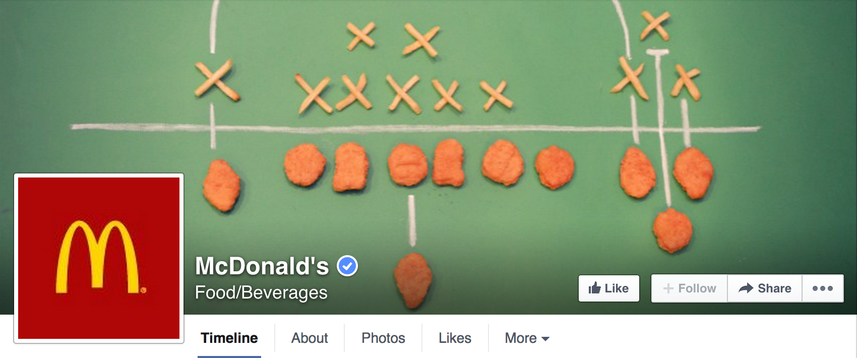 facebook page for beginners inspiration mcdonalds