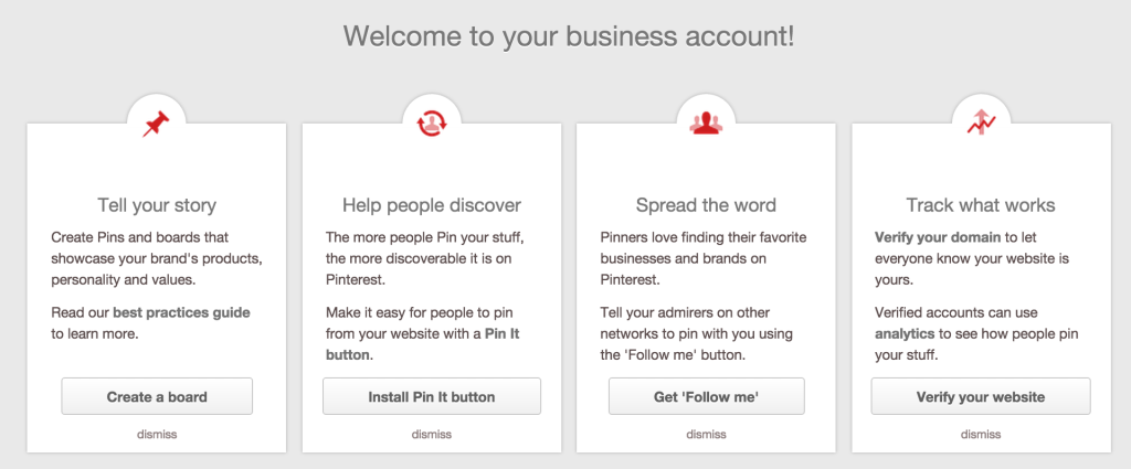 pinterest getting started