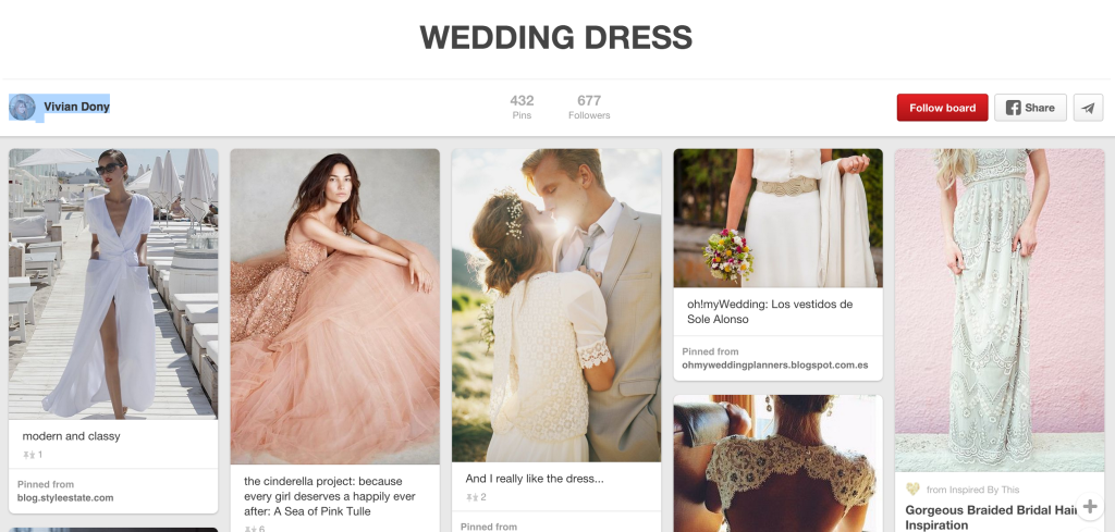 wedding dress planning on pinterest